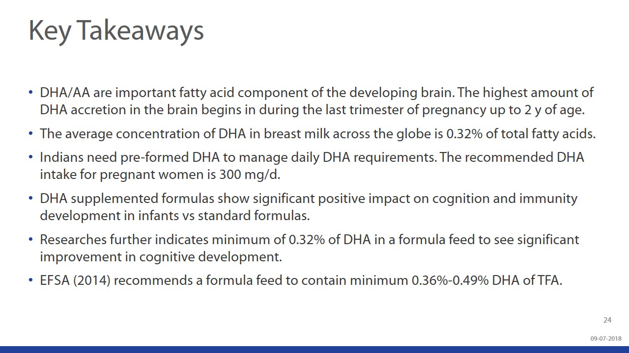 Beyond Brain Development - Understanding The Role Of DHA & ARA During Infancy slide 23
